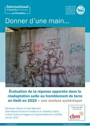 Donner d'une main… - International Centre for Evidence in Disability