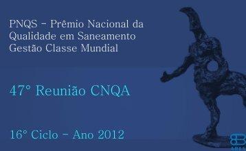 Leia Mais - Prêmio Nacional da Qualidade em Saneamento