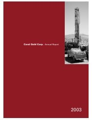 2003 Annual Report - Coral Gold Resources Ltd.