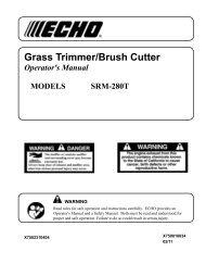 SRM-280T Operator's Manual - Echo Inc.