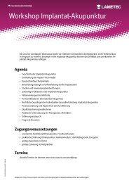 Seminarprogramm Implantatakupunktur / Anmeldung Bad ... - Inauris