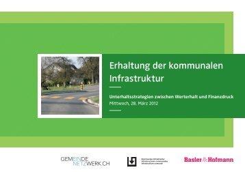 Erhaltung der kommunalen Infrastruktur - Basler & Hofmann