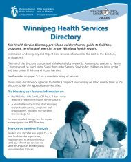 health services directory - Winnipeg Regional Health Authority