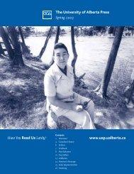 Canadian history - the University of Alberta Press