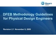 DFEB Methodology Guidelines for Physical Design Engineers