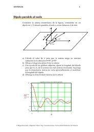 Dipolo paralelo al suelo - Universidad Politécnica de Valencia