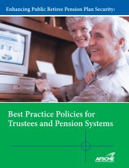 Best Practice Policies for Trustees and Pension Systems - AFSCME