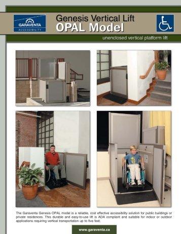 Garaventa Genesis OPAL Model Brochure