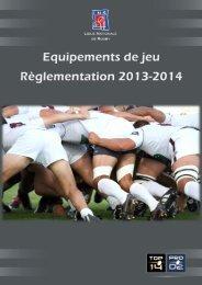 Note équipements de jeu - Ligue Nationale de Rugby