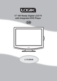 """17"""" HD Ready Digital LCD TV with Integrated DVD Player - KnowHow"""