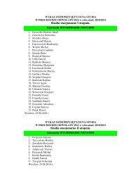 Wykaz osób przyjętych na studia w procedurze odwoławczej