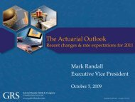 The Actuarial Outlook