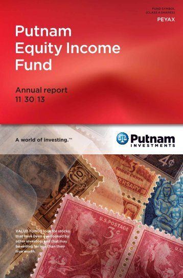 Equity Income Fund Annual Report - Putnam Investments