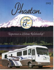 2003 Tiffin Phaeton Brochure PDF with Floorplans and Specs