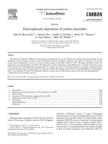 Electrophoretic deposition of carbon nanotubes.pdf