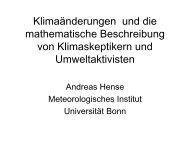 Klimaänderungen und die mathematische Beschreibung von ...