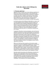 Securitas Values and Ethics Code - EthicsPoint