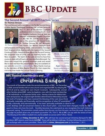 December 1, 2011 - Bible Baptist Church
