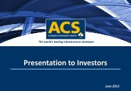 Presentation to Investors - Grupo ACS