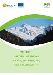MONITOR II MID TERM CONFERENCE 06-07/06/2011 Bozen, Italy ...