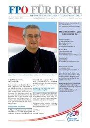 Ausgabe Jänner 2013 - Vorarlberger Freiheitliche