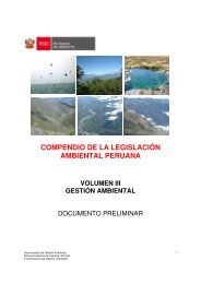 Compendio de la legislación ambiental peruana - CDAM - Ministerio ...