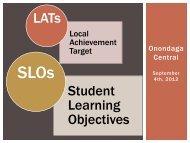 SLO/LAT Review - Onondaga Central Schools