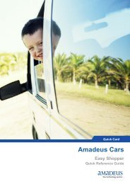 Amadeus Cars Easy Shopper Quick Reference Guide