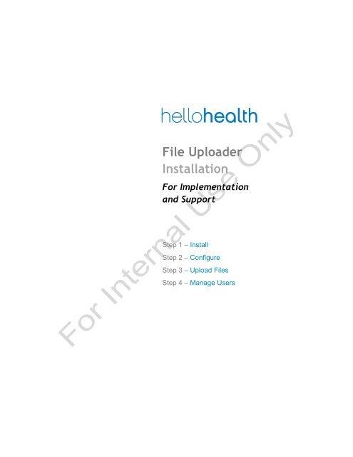 File Uploader Installation - Support - Hello Health