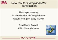 Mass spectrometry for identification of Campylobacter Results ... - SVA