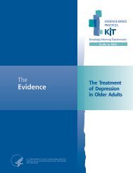The Evidence - SAMHSA Store - Substance Abuse and Mental ...