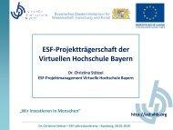 ESF-Projektträgerschaft der vhb (C. Stötzel) (pdf - 1.2 MB) - Virtuelle ...