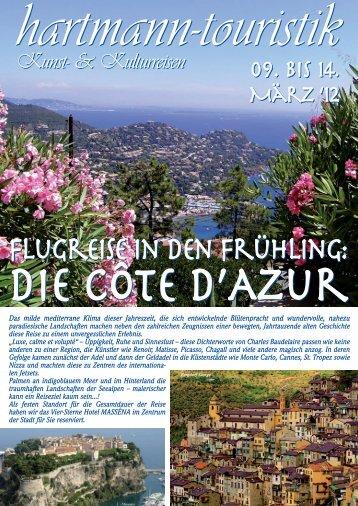 Flugreise in den Frühling: Flugreise in den ... - hartmann-touristik