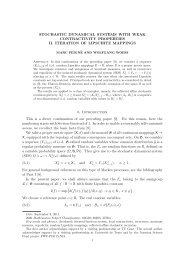 STOCHASTIC DYNAMICAL SYSTEMS WITH WEAK ... - LMPT