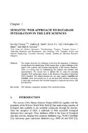Chapter 1 SEMANTIC WEB APPROACH TO DATABASE ...