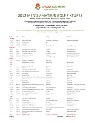 2012 MEN'S AMATEUR GOLF FIXTURES - England Golf