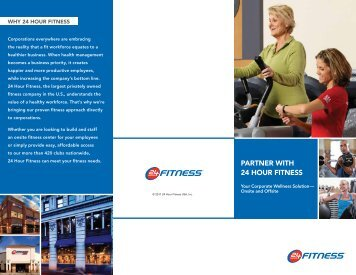Download the Corporate Wellness brochure PDF - 24 Hour Fitness