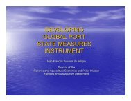 developing global port state measures instrument - International ...