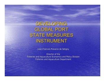 developing global port state measures instrument - International ...