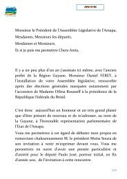 DISCOURS PRESIDENT ALEXANDRE VERSION 5 - Région Guyane