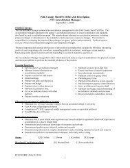 1 Polk County Sheriff's Office Job Description 2721 Accreditation ...