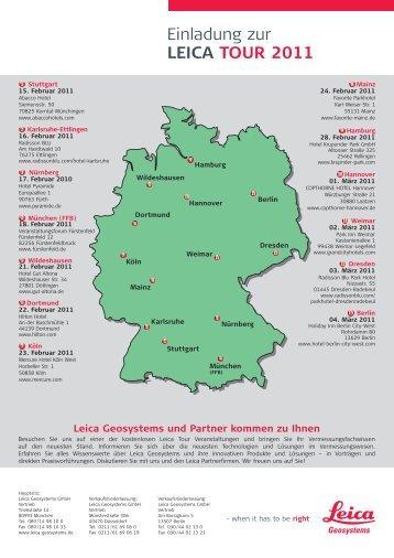 Einladung zur LEICA TOUR 2011 - Robust-pc.de