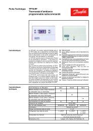 TP75-RF Thermostat d'ambiance programmable ... - Danfoss