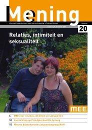 Relaties, intimiteit en seksualiteit - MEE Zuidoost Brabant