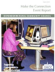 Make the Connection Event Report - Oxfordshire Rural Community ...