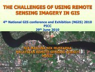 the challenges of using remote sensing imagery in gis - Malaysia ...