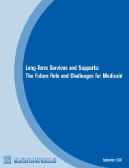 The Future Role and Challenges for Medicaid - Alliance for Health ...