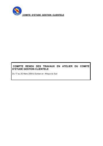 SC N°3 Durban Repor.. - association des societes d'electricite d ...