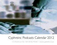 CyphreincPodcastsCalendar2012