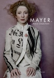 Lookbook Sommer 2011 - mayer | PEACE COLLECTION